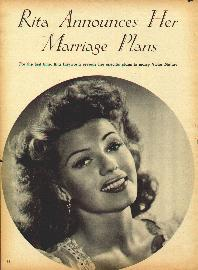 For the first time, Rita Hayworth reveals her specific plans to marry Victor Mature