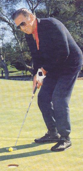 Golfing Vic in 1987