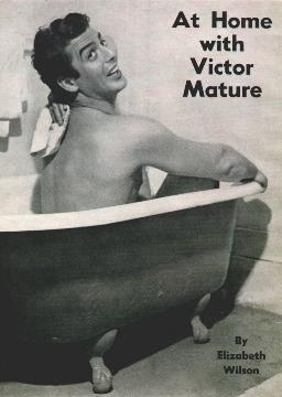 Vic posing in the tub