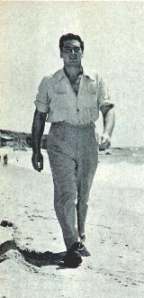 Vic walking at the beach